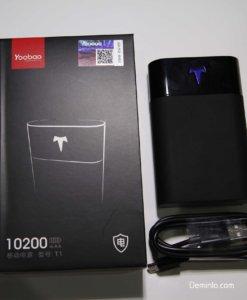 Ảnh chụp thực tế Pin sạc dự phòng 10200mAh Yoobao T1 nặng chỉ 195g