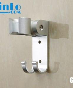 Giá đỡ vòi sen - gác vòi sen nhôm GDVS-2 chỉnh được góc có móc treo