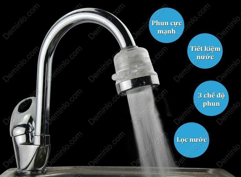 Vòi rửa chén tăng áp 3 chế độ phun nước