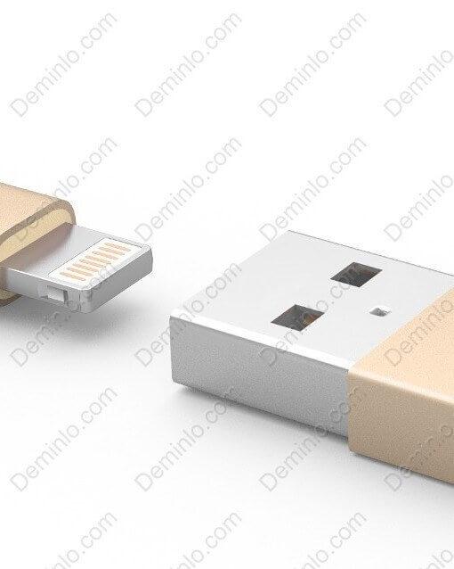 Đầu kết nối USB và Lightning được thiết kế tinh xảo, độ hoàn thiện tốt