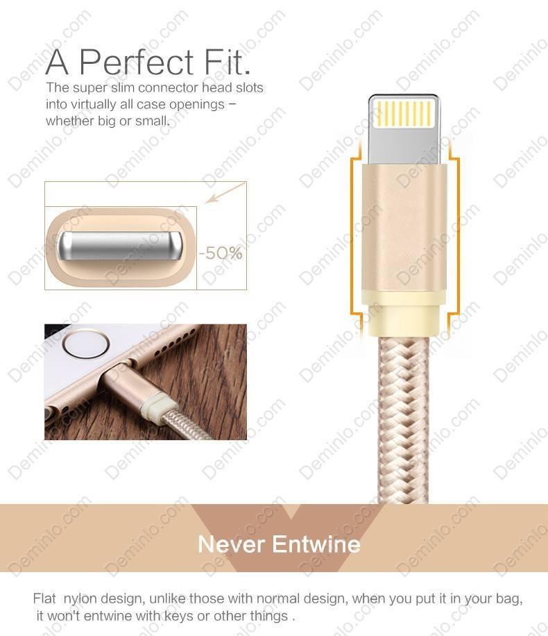 Cáp được thiết kế với độ chính xác cao, vừa khít với các thiết bị Apple