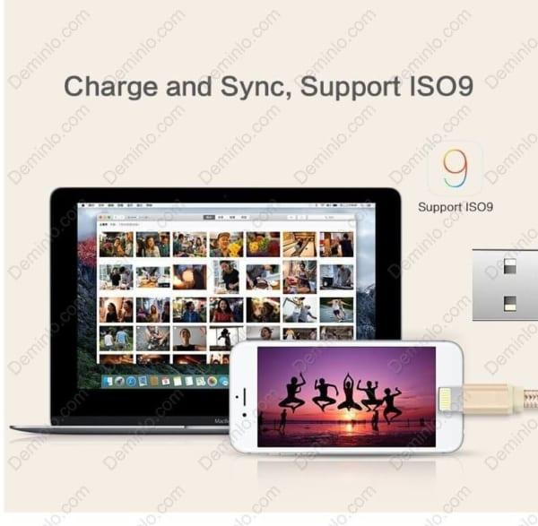 Cáp lightning Yoobao YB-413 tương thích tốt đến phiên bản iOS 9