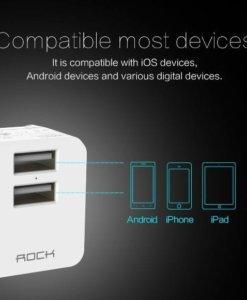 Củ sạc iPhone iPad Rock mini tank travel đa năng, tương thích tốt với nhiều thiết bị