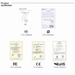 Củ sạc Rock được chứng nhận đạt các tiêu chuẩn quốc tế về an toàn