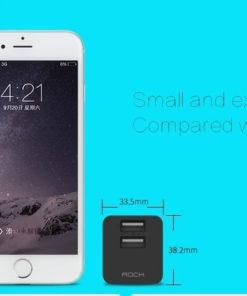 Kích thước nhỏ gọn của củ sạc iPhone iPad Rock mini tank travel