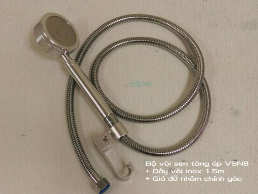 Trọn bộ vòi sen VSN8 + dây inox 1.5m + giá đỡ vòi nhôm chỉnh góc