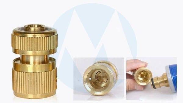 Đầu kết nối nhanh siêu bền giữa vòi rửa xe với ống dẫn nước