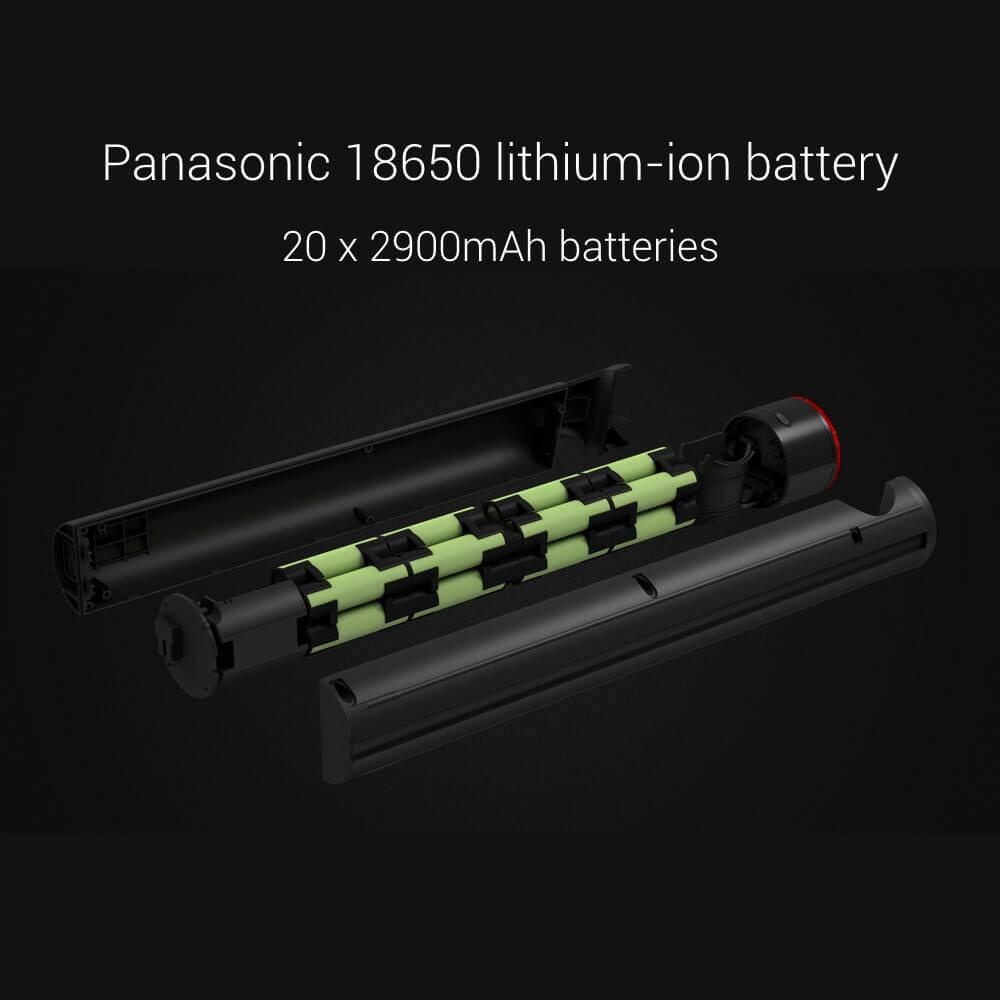 Xiaomi Mi Cycle sử dụng 20 cell pin dung lượng 2900mAh của Panasonic