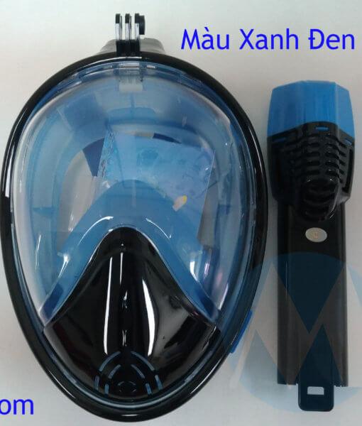 kính bơi liền ống thở màu xanh đen