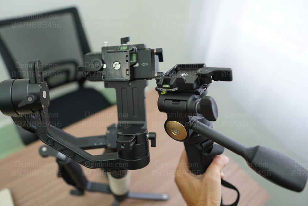 chốt gài đế tháo lắp nhanh máy ảnh máy quay với gimbal, monopod