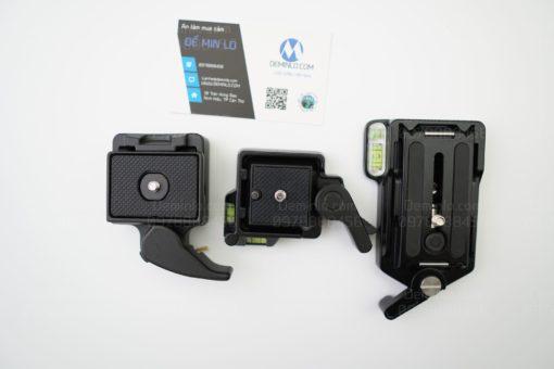 so sánh kích thước của đế tháo lắp nhanh máy ảnh với 2 loại đế tháo lắp nhanh khác