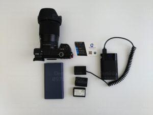 dùng sạc dự phòng cấp nguồn cho sony a6300 giúp quay video nguyên ngày