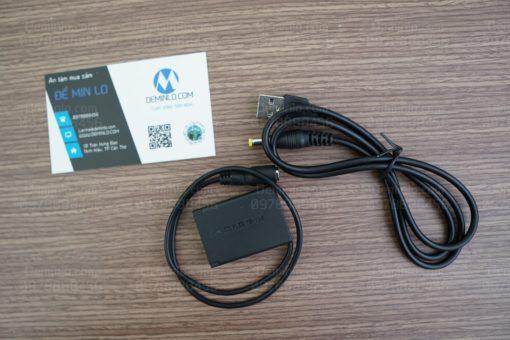 pin dummy dùng nguồn sạc dự phòng cho máy ảnh canon g7x mark 2 G9 X G9X mark 2