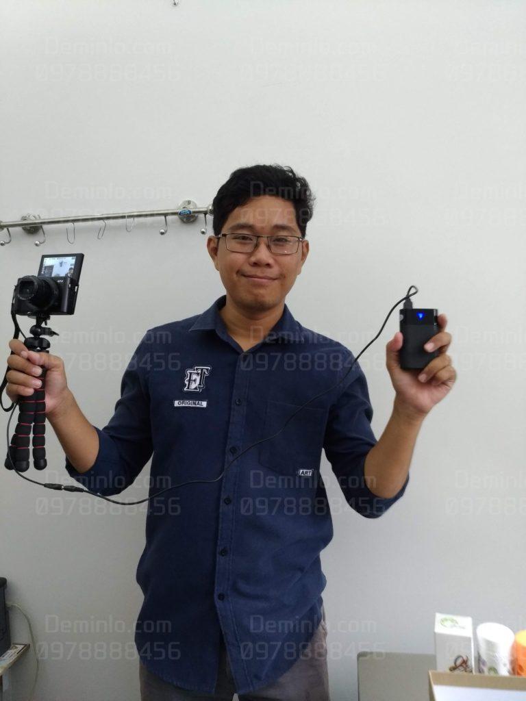 vloger sử dụng pin dummy cho canon g7x mark ii dùng cả ngày