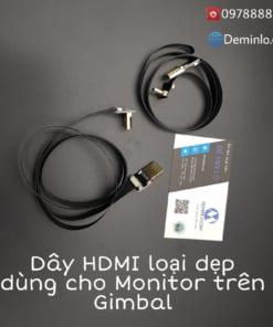 Cáp HDMI dẹt mỏng nhẹ dành cho monitor gắn trên gimbal
