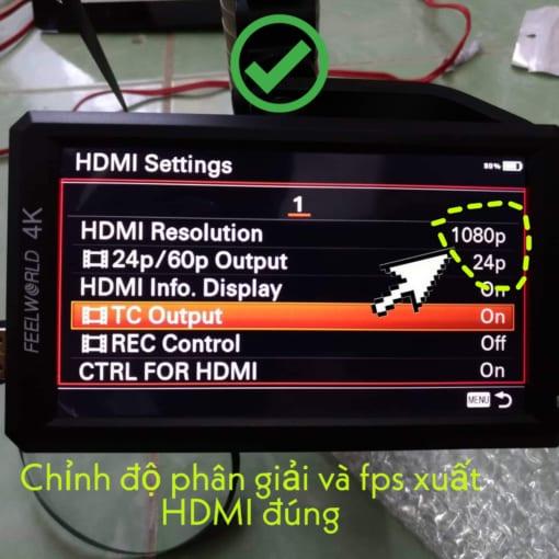 chỉnh đúng thông số xuất hình hdmi cho cáp hdmi dẹt