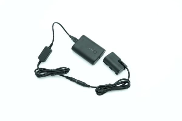 pin dummy canon lp-e6 nguồn đơn dùng sạc dự phòng