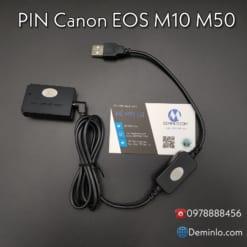 pin canon eos m10 m50 lp-e12 dùng nguồn sạc dự phòng