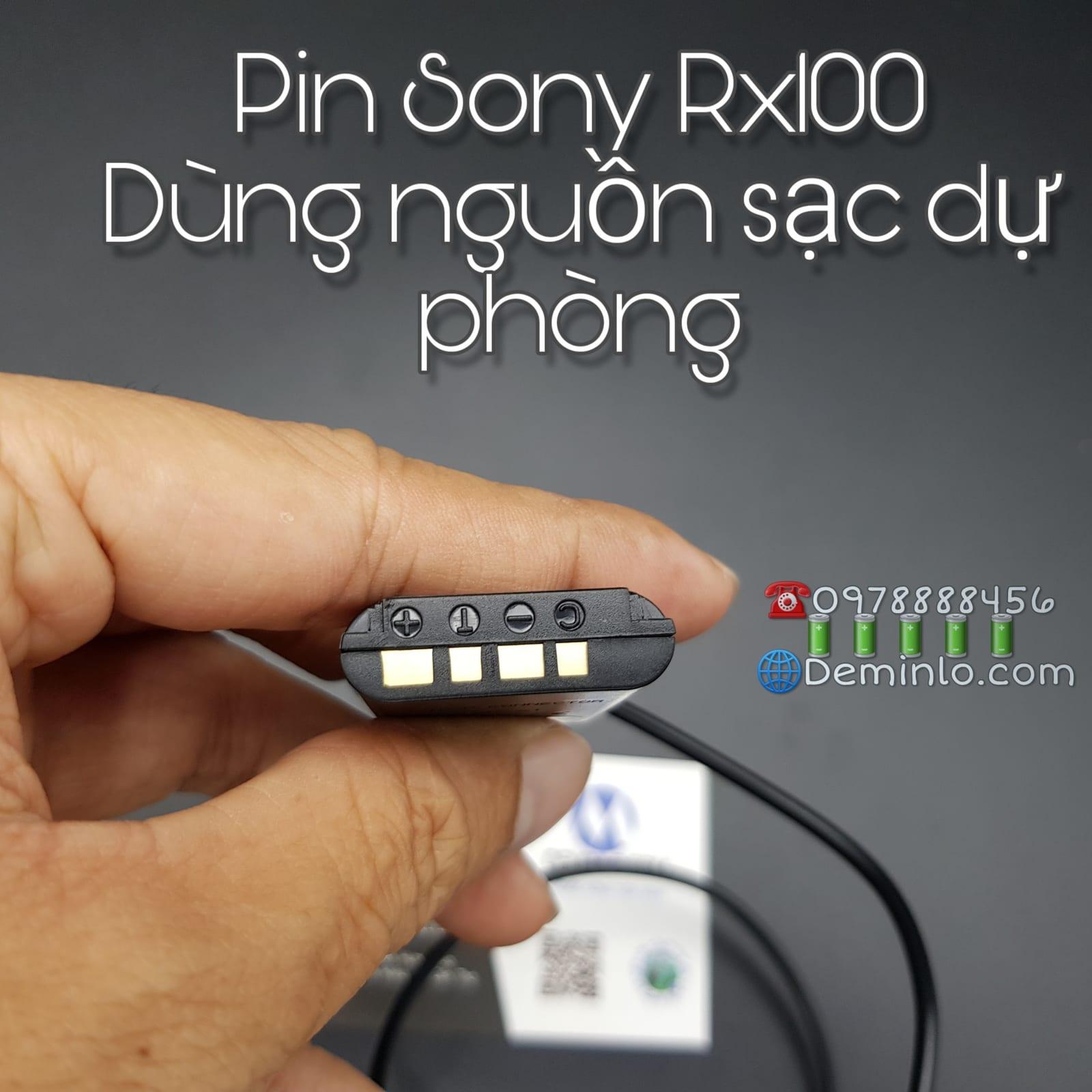 pin sony rx100 dùng nguồn sạc dự phòng