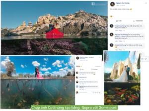 Chụp ảnh Cưới sáng tạo bằng Gopro 5 6 7 với Dome port