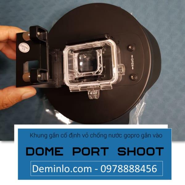 Khung gắn cố định vỏ chống nước gopro gắn vào dome port shoot