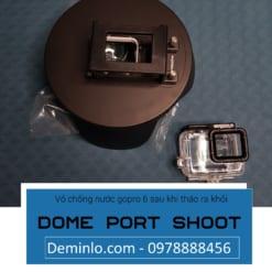 Vỏ chống nước gopro 6 sau khi tháo ra khỏi dome port shoot
