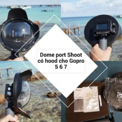 dome port shoot cho gopro 5 6 7